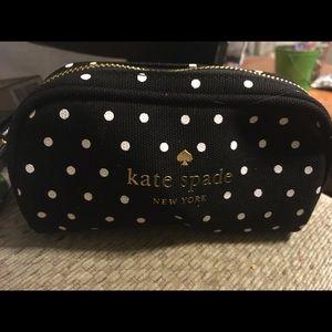 Kate Spade Polka Dot Cosmetic Makeup Bag